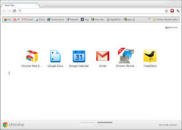Normal Chrome New Tab page